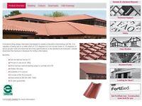 Brown roof tiles. Forticrete Centurion.