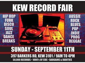 Kew Record Fair - SEPTEMBER 11TH Massive Record & CD Sale. Vinyl, LPs Kew Boroondara Area Preview