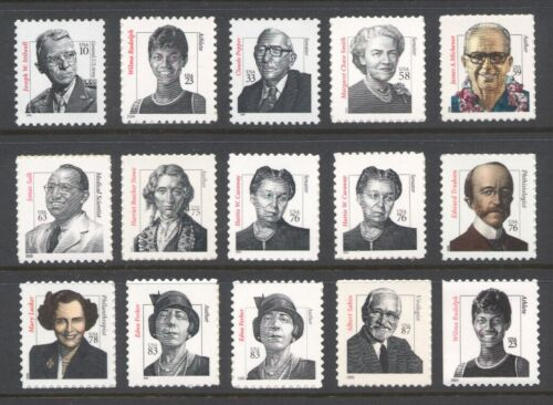 3420-3436 DISTINGUISHED AMERICANS *COMPLETE SET OF 15 STAMPS* MINT XF-NH