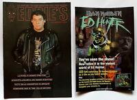 Iron Maiden Ed Hunter Promo Sticker Flyer Original 20 X 15 Fan Club Magazine 17 - hunter - ebay.it