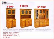 Buffet Hutch Lead Light Solid Pine From $899 Ellen Ridge Sumner Brisbane South West Preview