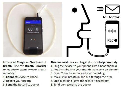 Stethoscope REMOTE phonendoscope respiratory Breath recorder