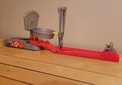 Hot Wheels Trick Tracks Hammer and Hoop Launcher M6291 - Mattel 2007