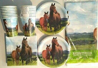 Pferd & Pony Geburtstag Party Dekoration Set Pack Fro 16 Teller, Servietten, ()