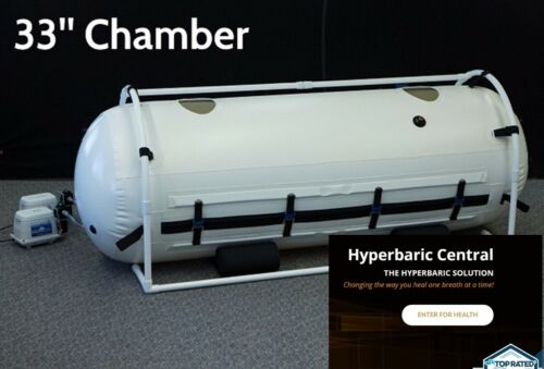 33 Inch HBOT Military O2 Chamber Best Immune System Support!