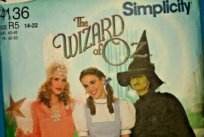 Bad Witch Wizard Of Oz Costume (Simplicity Costumes 4136 Adult Wizard of Oz R5 14-22 Dorothy Good Bad Witch)