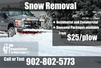 Snow removal  from $25 halifax and Bedford areas
