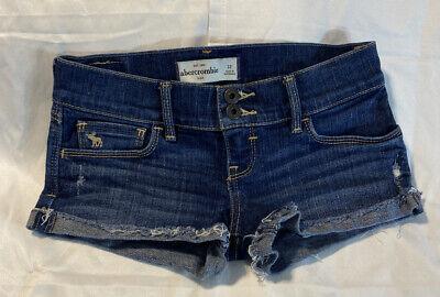 Girl's Abercrombie Kids Blue Jean Short Shorts Size 12