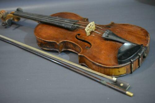 Old Antique Vintage Conservatory Violin with Bow 4/4