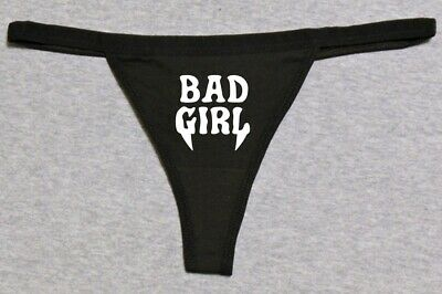Custom Glows In Dark Bad Girl Gothic Cosplay Fangs Funny Sexy G-String Thong   Girl Sexy Thong