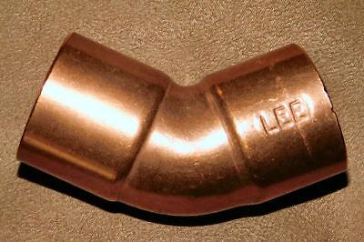 Lot Of 4 1 Inch 45 Degree Elbow Wrot Copper Sweat Hub X Hub Fast Shipping