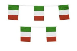 Italy Flag Bunting Italian Football International Banner Decoration 10 Metres