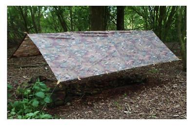 LARGE MILITARY BASHA Army shelter tarp Green camo bivi tent Stealth wild camping