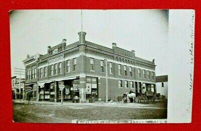 1908? RPPC Pender, Nebraska - McHirron Block - WOB,  posted - Very Good cond.