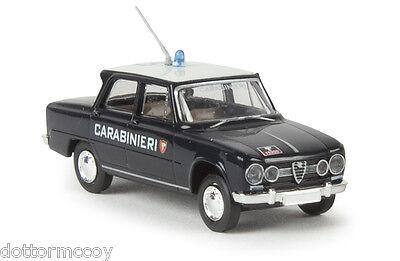 BREKINA Alfa Romeo GIULIA modello 1600 1300 rosso Carabinieri POLIZIA H0 1:87