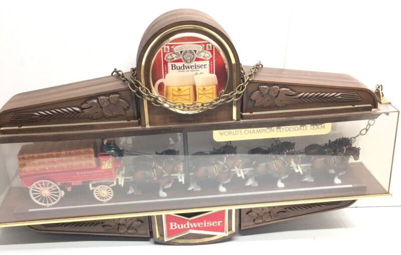 BUDWEISER CLYDESDALE HORSE CHAMPION 1979 BEER LIGHT SIGN
