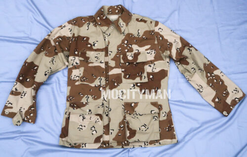 Genuine Military Chocolate Chip 6 Color Desert Camo Coat Shirt - Medium Regular