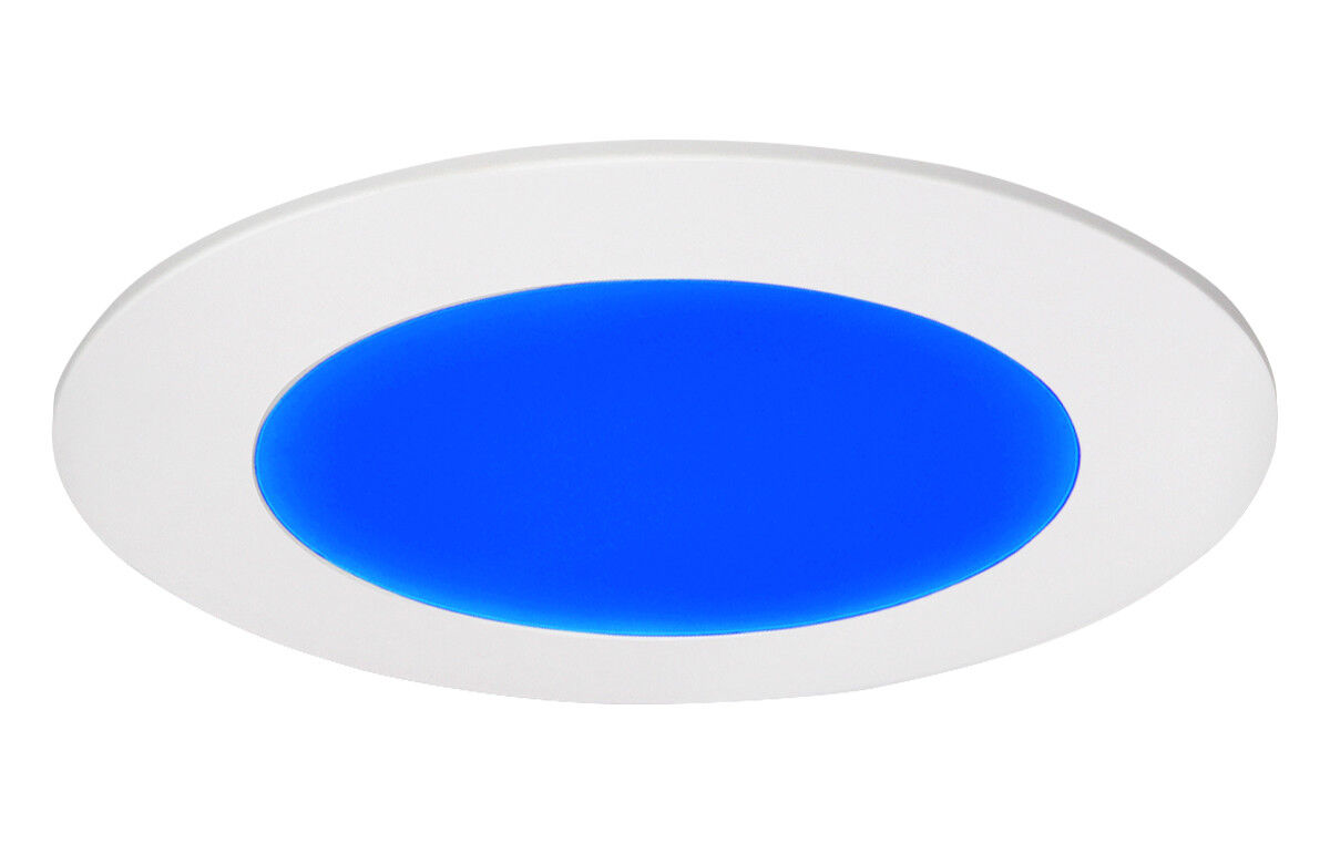 6w Led Blue Round Recessed Ceiling Flat Panel Down Light Ultra Slim High Power Mood Lamp This Will Save You Upto 90 On Electric But Give Output Only Using