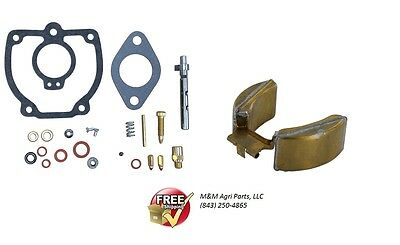Carburetor Kit W Float Ih Farmall H M Mv Super H M Mta W6 W9 Tractor Ih Carb