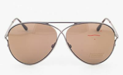 Tom Ford Peter Gunmetal / Brown Sunglasses TF142 10J