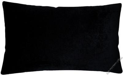 Black Velvet Solid Decorative Throw Pillow Cover / Cushion Cover 12x16""