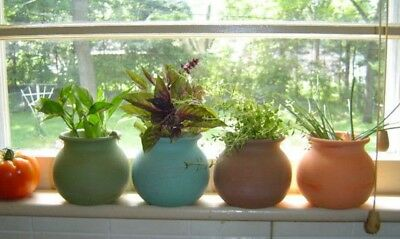 4 mexican fiesta terra cotta Window Sill Small HERB garden clay plant flower - Small Clay Flower Pots