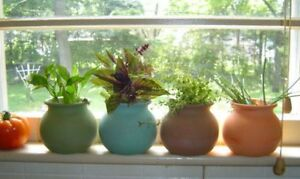 4 mexican fiesta terra cotta Window Sill Small HERB garden clay plant flower Pot