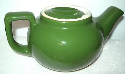 (Sm.TEAPOT & LID Individual BackStamp EFAN 11 MEDIUM GREEN Heavy China Restaurant)