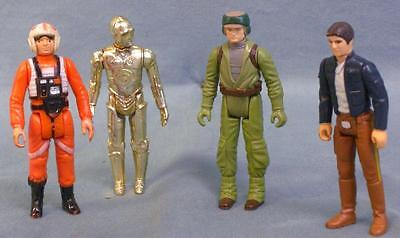 Great Group Of Four Original Star Wars Action Figures  Vintage  Han Solo  C3p0