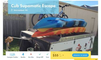 Camper Trailer FOR HIRE in Warrnambool from $55/night