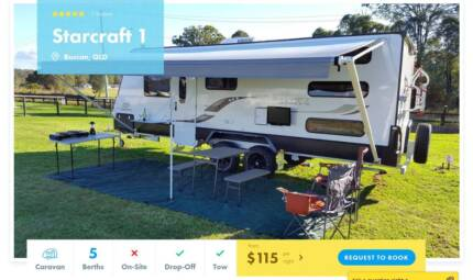 Caravan FOR HIRE in Buccan from $115/night