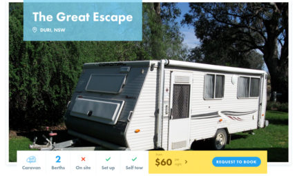 Caravan FOR HIRE in DURI (Tamworth) from $60/night Cameron Park Lake Macquarie Area Preview