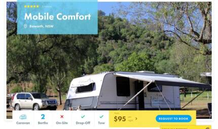 Caravan FOR HIRE in Raworth from $95/night Cameron Park Lake Macquarie Area Preview