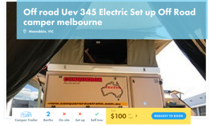 Camper Trailer FOR HIRE in Moorabbin from $100/night