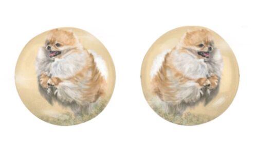 Stud Earrings - Pomeranian