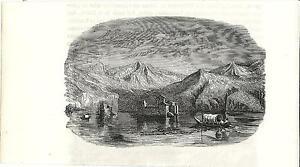 Stampa-antica-CASTELLI-di-CANNERO-sul-Lago-Maggiore-1885-Old-antique-print