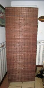 2 identical dark brown Real Bamboo Blinds, $60 BOTH