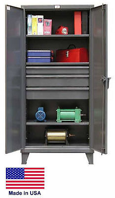 Steel Cabinet Commercialindustrial - Shelves Drawers 33 - 78 H X 24 D X 36 W