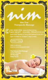 Nim Thai Therapeutic Massage Darlinghurst Inner Sydney Preview