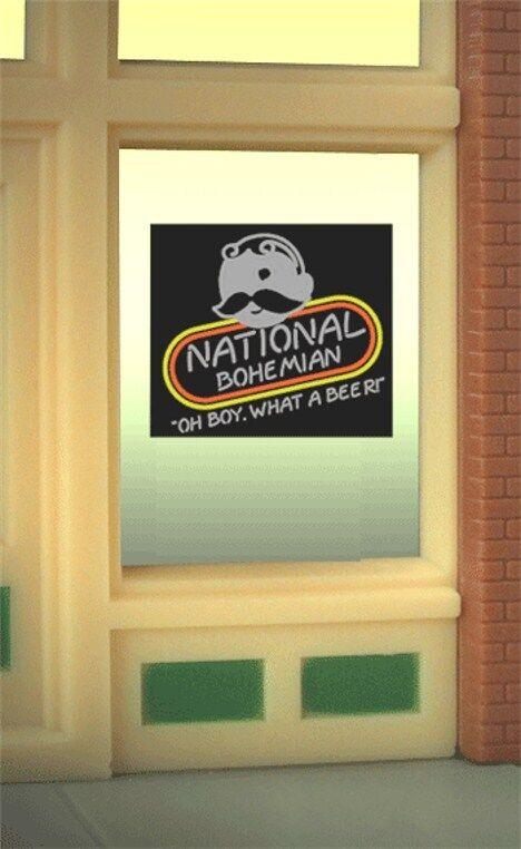 Miller's National Bohemian Beer Natty Boh Animated Neon Window Sign 8845 O/ho
