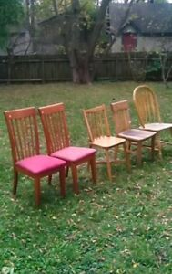 Wooden chairs for sale, $5 - $10 each