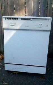 White built-in dishwasher