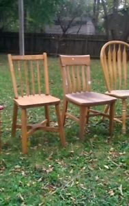Pine chairs.. $5 each