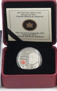 2013 $4 Heroes of 1812: Charles Michel De Salaberry Pure Silver