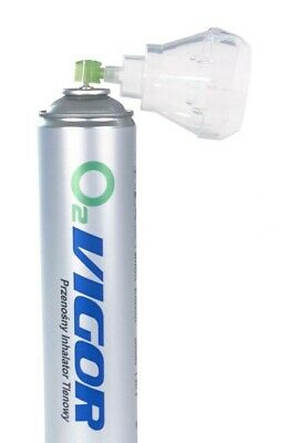 PURE OXYGEN CAN 14 L - No liquid or propellant - feels empty when shaken - UK