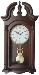 Verona Large Dark Wooden Finish Wall Clock w/ Elegant Cutout Top