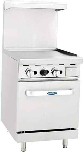 """Atosa Cookrite Ato-24g, 24"""" Restaurant Griddle Oven Stove Natural Gas Free Lift"""