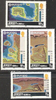 Jersey 1982 Europa Maps Showing Channel Island Formation MNH (SC# 285-288)