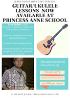 Guitar lessons at Princes Anne School and Pinecrest School