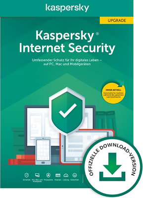 Kaspersky Internet Security 2020 incl. AntiVirus - 1 PC OFFIZIELLE DOWN. VERSION